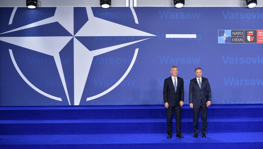 NATO Secretary General Jens Stoltenberg and the President of Poland, Andrzej Duda